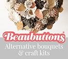 Beaubuttons: Button and felt bouquets